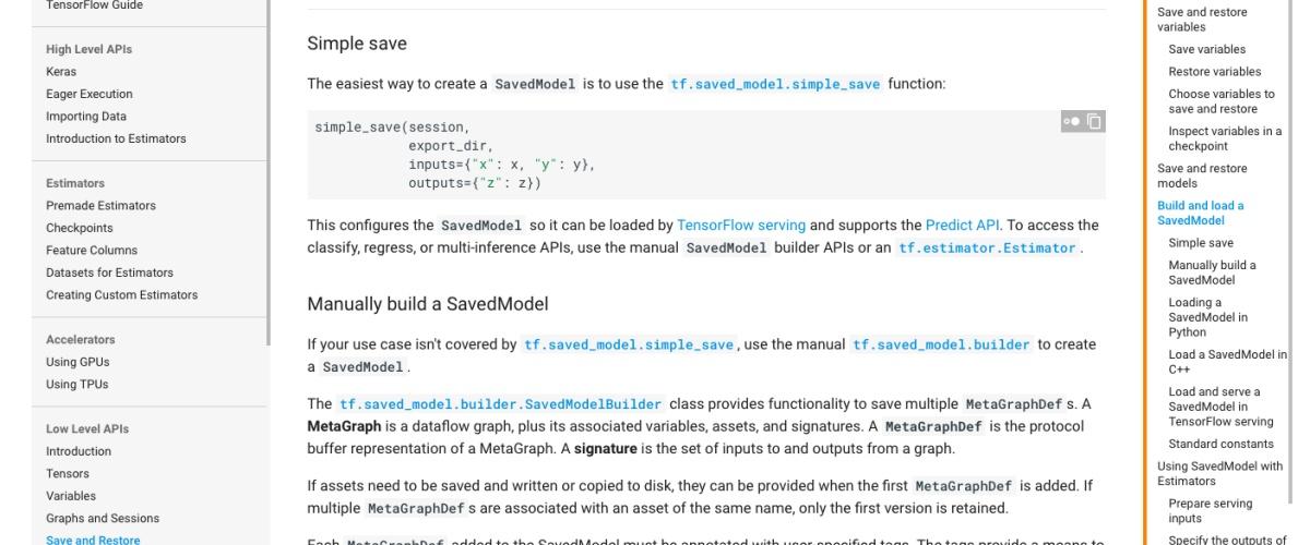 TensorFlow模型的签名推荐与快速上线